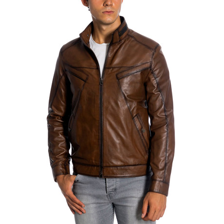 Andrew Leather Jacket // Antique (XS)