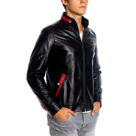 Andrew Leather Jacket // Black (XS)