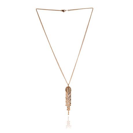 Damiani 18k Rose Gold Diamond Pendant Necklace // Store Display