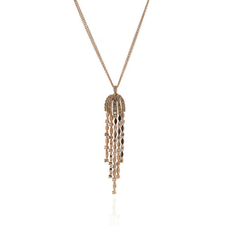 Damiani 18k Rose Gold Diamond Pendant Necklace // Store Display
