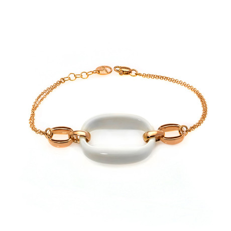Damiani D Lace 18k Rose Gold Diamond Accent + Agate Bracelet // Store Display