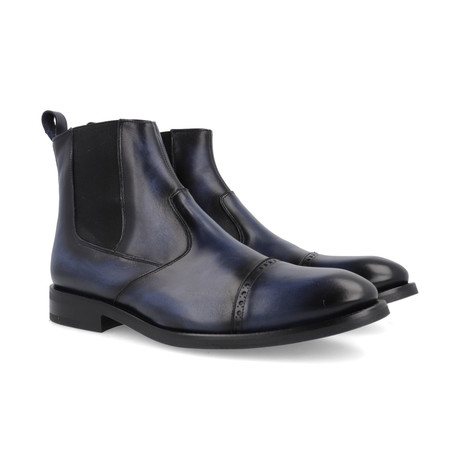 Cambol Leather Chelsea Boots // Navy (Euro: 39)