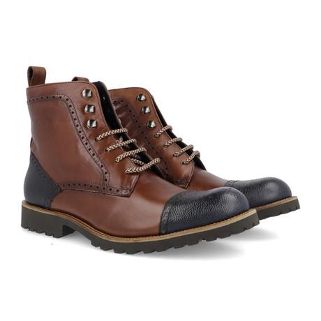 Carmona Leather Boot // Brown + Blue (Euro: 39)