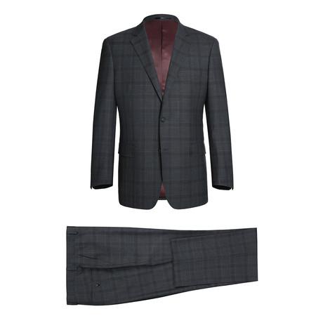 Super 140's 2-Piece Classic Fit Suit + Flat Front Pant // Gray Plaid (US: 34R)