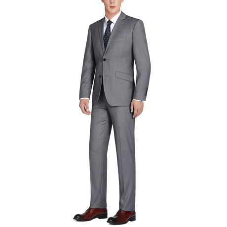 Super 140's Wool Slim Fit 2-Piece Pick Stitch Suit // Coal (US: 34R)