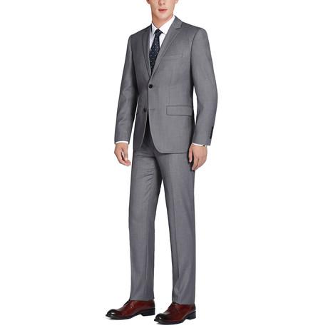 Super 140's Wool Classic Fit 2-Piece Pick Stitch Suit // Coal (US: 34R)