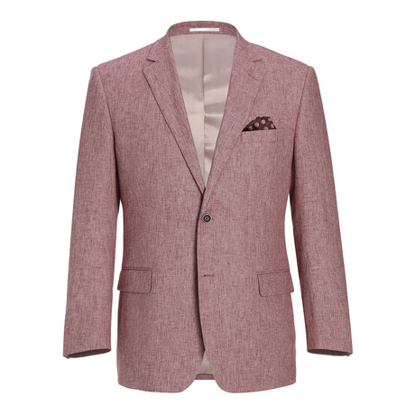 Linen + Cotton Chambray Classic Fit Blazer // Red (US: 34R)