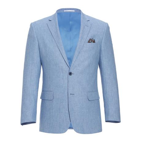 Linen + Cotton Chambray Classic Fit Blazer // Light Blue (US: 34R)