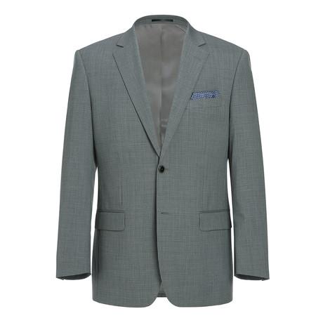 Super 140's Micro Check Classic Fit Blazer // Gray + Black (US: 34R)