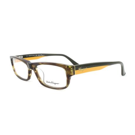 Unisex SF2625-319-54 Optical Frames // Striped Khaki