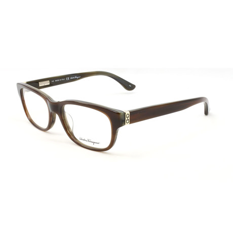 Unisex SF2645-217-53 Optical Frames // Brown Horn