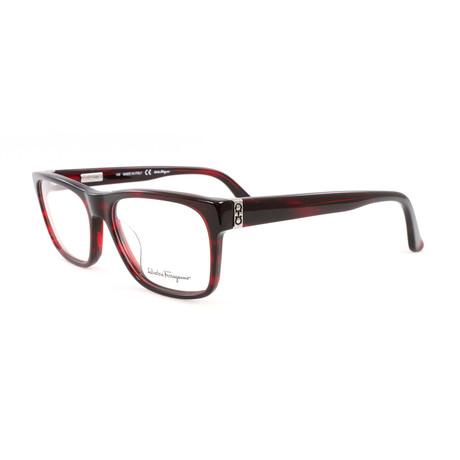 Unisex SF2652-608-52 Optical Frames // Striped Wine