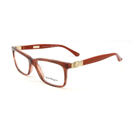 Women's SF2623-216-52 Optical Frames // Striped Brown