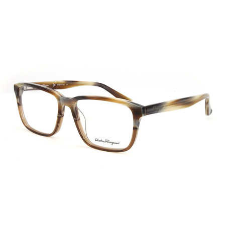 Men's SF2738-217-54 Optical Frames // Brown Horn Cognac