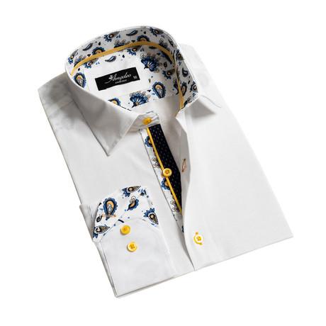 Reversible Cuff Long-Sleeve Button-Down Shirt // White (XS)
