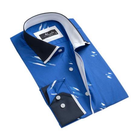 Reversible Cuff Long-Sleeve Button-Down Shirt II // Medium Blue (XS)