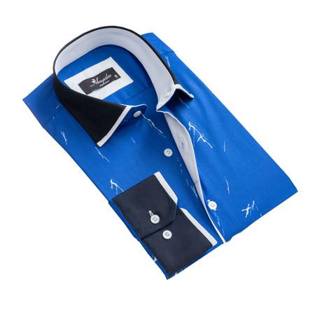 Reversible Cuff Button-Down Shirt I // Medium Blue (XS)