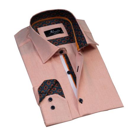 Reversible Cuff Button-Down Shirt // Light Orange (XS)