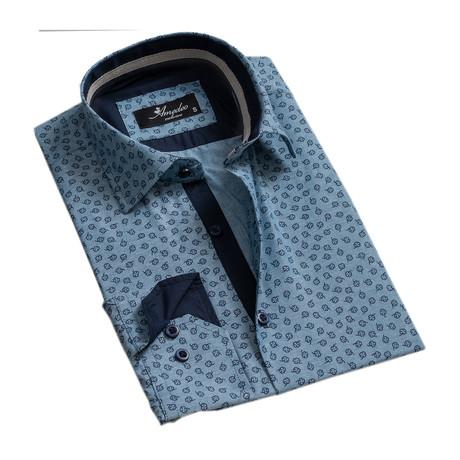 Reversible Cuff Long-Sleeve Button-Down Shirt // Light Denim Blue (XS)