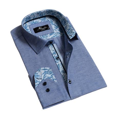 Reversible Cuff Long-Sleeve Button-Down Shirt // Denim Blue (XS)