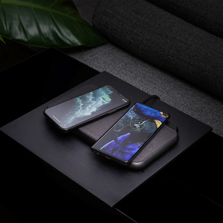 ZENS Liberty 16 Coil Dual Wireless Charger // Fabric