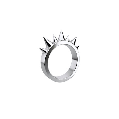 Aggressive Ring // Sterling Silver (Size 5)