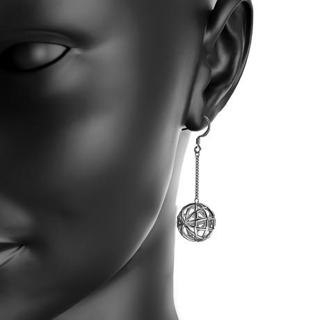 Sphere Earrings // Sterling Silver