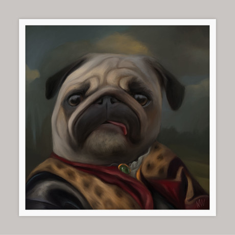 Limited Edition Renaissance Dog Giclee // Archie (Small)