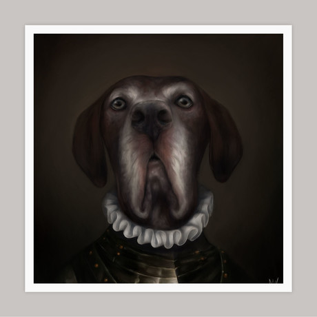 Limited Edition Renaissance Dog Giclee // Buck (Small)