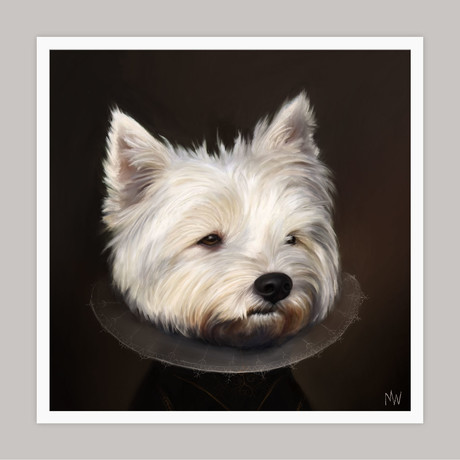 Limited Edition Renaissance Dog Giclee // Bentley (Small)