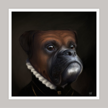 Limited Edition Renaissance Dog Giclee // Izzy (Small)