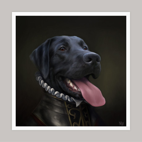 Limited Edition Renaissance Dog Giclee // Ripley (Small)