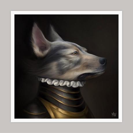 Limited Edition Renaissance Dog Giclee // Maximilian (Small)