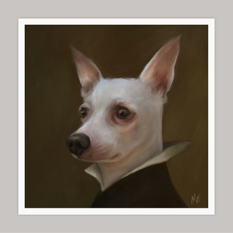 Limited Edition Renaissance Dog Giclee // Bean (Small)