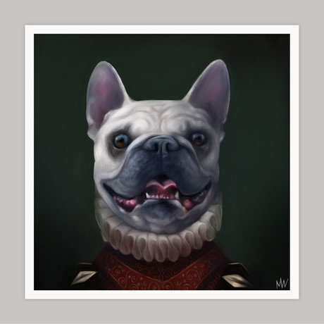 Limited Edition Renaissance Dog Giclee // Queenie (Small)
