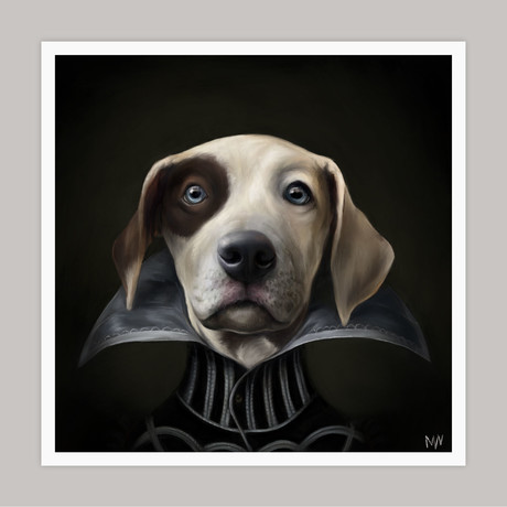 Limited Edition Renaissance Dog Giclee // Poe (Small)