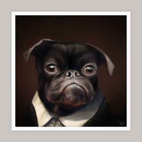 Limited Edition Renaissance Dog Giclee // Pink (Small)