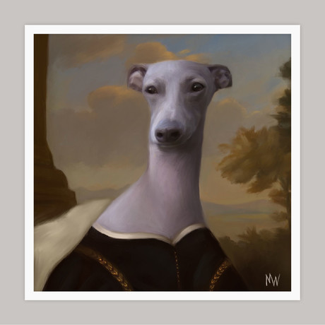 Limited Edition Renaissance Dog Giclee // Layla (Small)