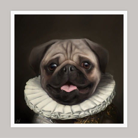 Limited Edition Renaissance Dog Giclee // Frankie (Small)