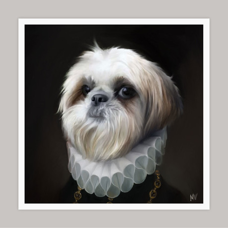 Limited Edition Renaissance Dog Giclee // Pepper (Small)