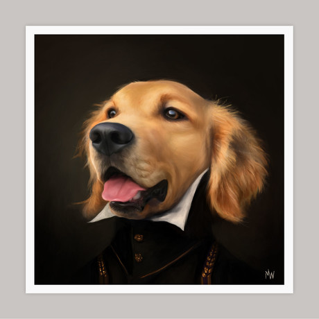 Limited Edition Renaissance Dog Giclee // Hap (Small)