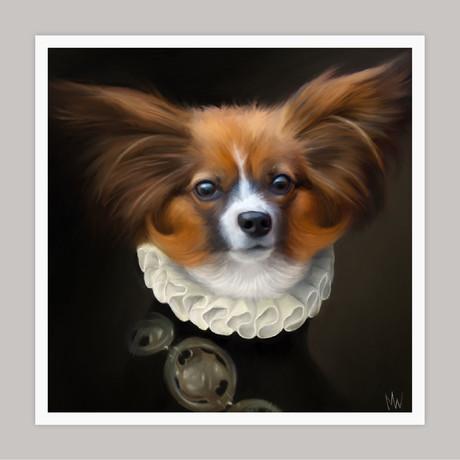 Limited Edition Renaissance Dog Giclee // Kip (Small)