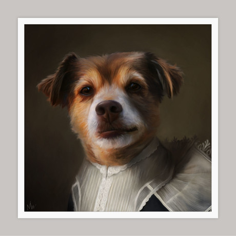 Limited Edition Renaissance Dog Giclee // Ivy (Small)