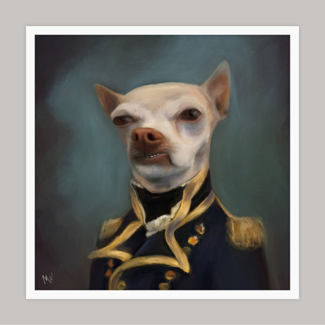 Limited Edition Renaissance Dog Giclee // King (Small)