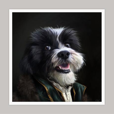 Limited Edition Renaissance Dog Giclee // Hucks (Small)