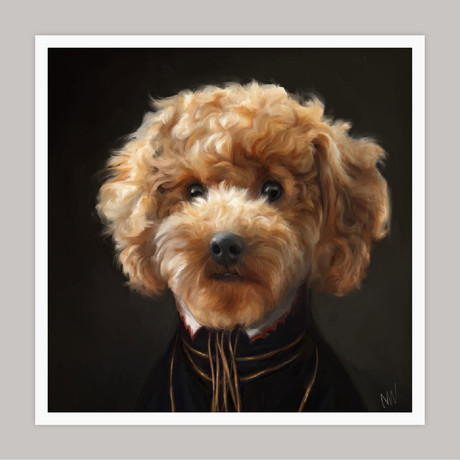 Limited Edition Renaissance Dog Giclee // Poppy (Small)