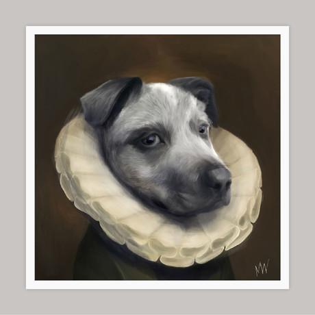 Limited Edition Renaissance Dog Giclee // Sugar (Small)