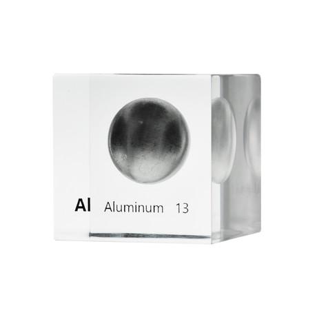 Lucite Cube // Aluminum
