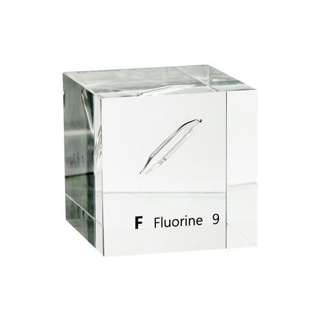 Lucite Cube // Fluorine