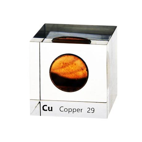 Lucite Cube // Copper